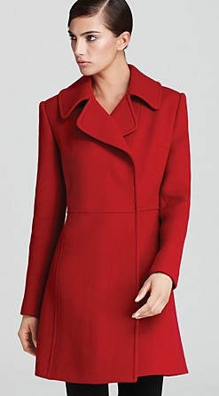 Red Alert: A perfect coat from DKNY - Style Wise Trend ...
