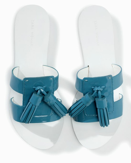 Zara Sandals with tassles, $59.50