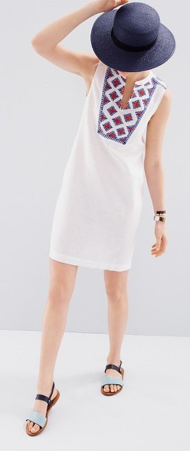 J Crew Sleevless white dress. $128