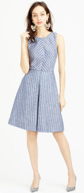 J. Crew Chevron stripe dress $148