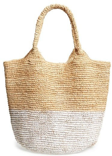 Straw studio color block straw bag 64.80