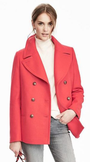 banana republic revamps brand-melton wool classic peacoat $268