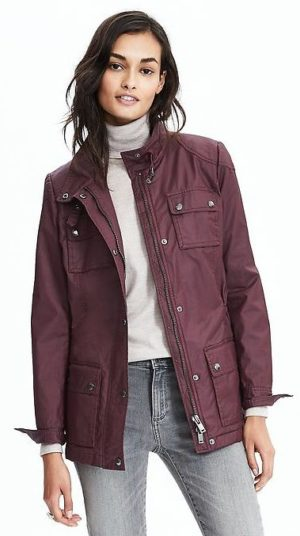 banana republic revamps brand- waxed canvas jacket $148