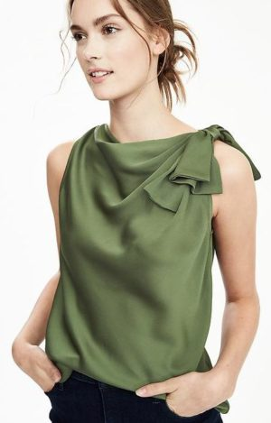 banana republic revamps brand- knot blouse $68