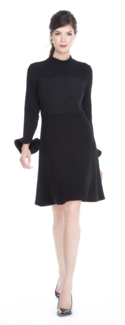 What to Wear this Thanksgiving charlotte-brody-ruffle-cuff-dress-with-lace-1490