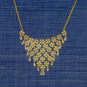 Gold Filigree Floral Necklace