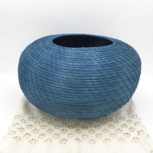 Paja Blanca Turquoise Vessel