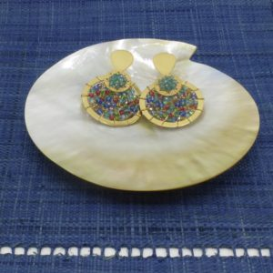 Murano Glass Overlapping Disc Earrings