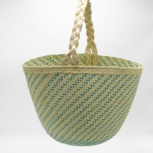 Shopper Green and Natural Iraca Palm