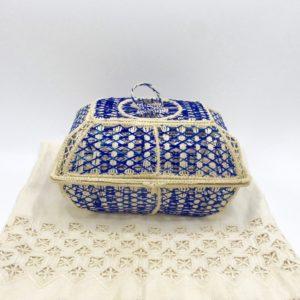Multi-Purpose Basket Iraca Palm (Royal Blue)