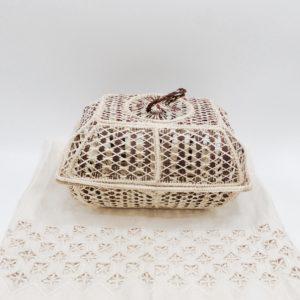 Multi-Purpose Basket Iraca Palm (Dark Brown and Rust)