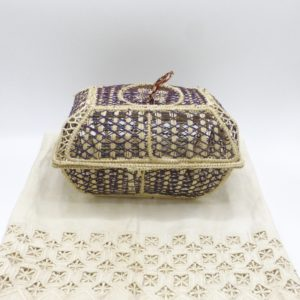 Multi-Purpose Basket Iraca Palm (Dark Brown)
