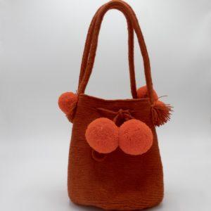 Mini Wayuu Mochila (Orange)