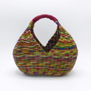 Multi-Color Straw Shopper (Medium)