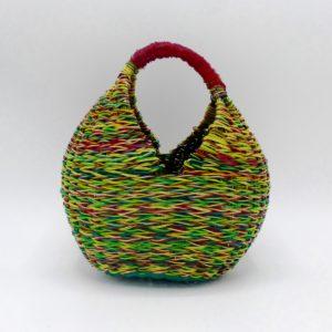 Multi-Color Straw Shopper (Small)