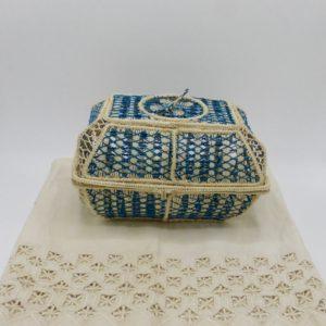 Multi-Purpose Iraca Palm Basket (Ocean Blue)