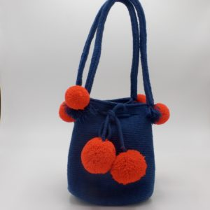 Mini Wayuu Mochila (Violet Blue)